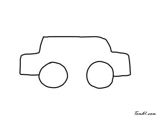 小车外观矢量图