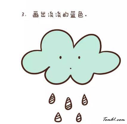 下雨简笔画图片