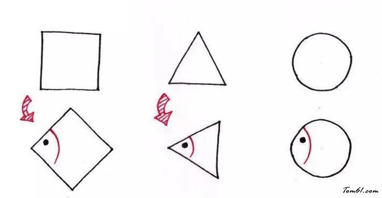 正方形,圆形,三角形的鱼图片