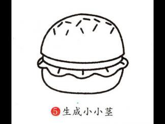 变色龙简笔画_汉堡包2图片_学习简笔画_少儿图库_中国儿童资源网