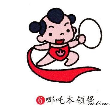 哪咤图片_学习简笔画_少儿图库_中国儿童资源网