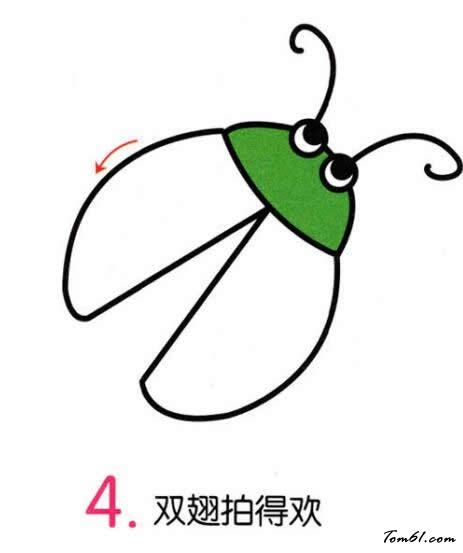 萤火虫3图片_学习简笔画_少儿图库_中国儿童资源网