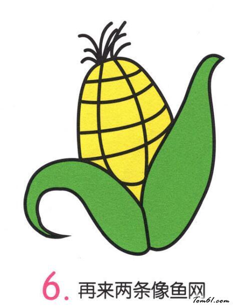 玉米5图片_学习简笔画_少儿图库_中国儿童资源网图片