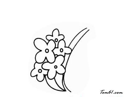 桂花2图片_学习简笔画_少儿图库_中国儿童资源网