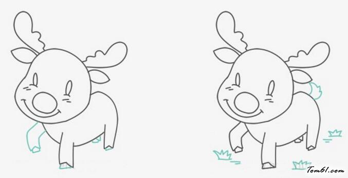 可爱的小鹿图片_学习简笔画_少儿图库_中国儿童资源网