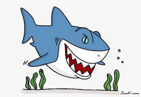大鲨鱼3图片_学习简笔画_少儿图库_中国儿童资源网