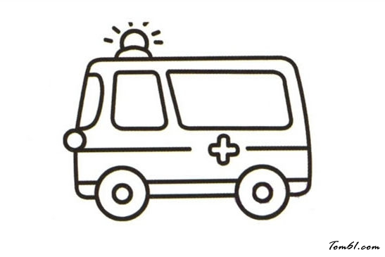 儿童简笔画消防车_救护车12图片_学习简笔画_少儿图库_中国儿童资源网