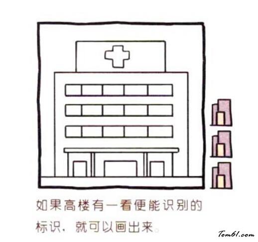 医院平面图简笔画