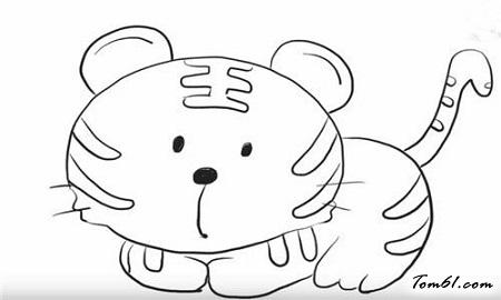 童老虎简笔画大全_可爱老虎图片_学简笔画_少儿图库_中国儿童资源网