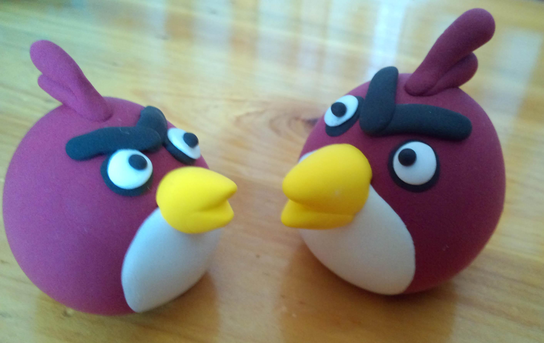 愤怒的小鸟橡皮泥作品