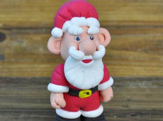 DIY圣诞老人的彩泥橡皮泥制作教程图解