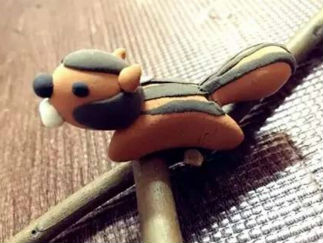 DIY小松鼠的彩泥橡皮泥制作教程图解