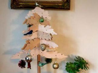 木制DIY圣诞树的彩泥橡皮泥制作教程图解