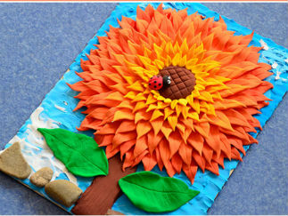 平面向日葵画的彩泥橡皮泥制作教程图解