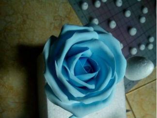 玫瑰花的彩泥橡皮泥制作教程图解5
