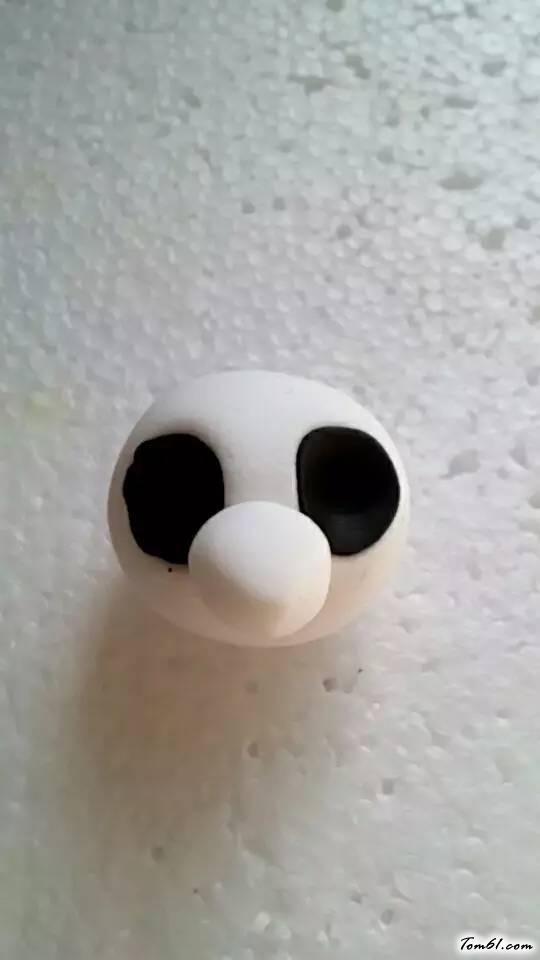 熊猫的彩泥橡皮泥制作教程图解2图片5