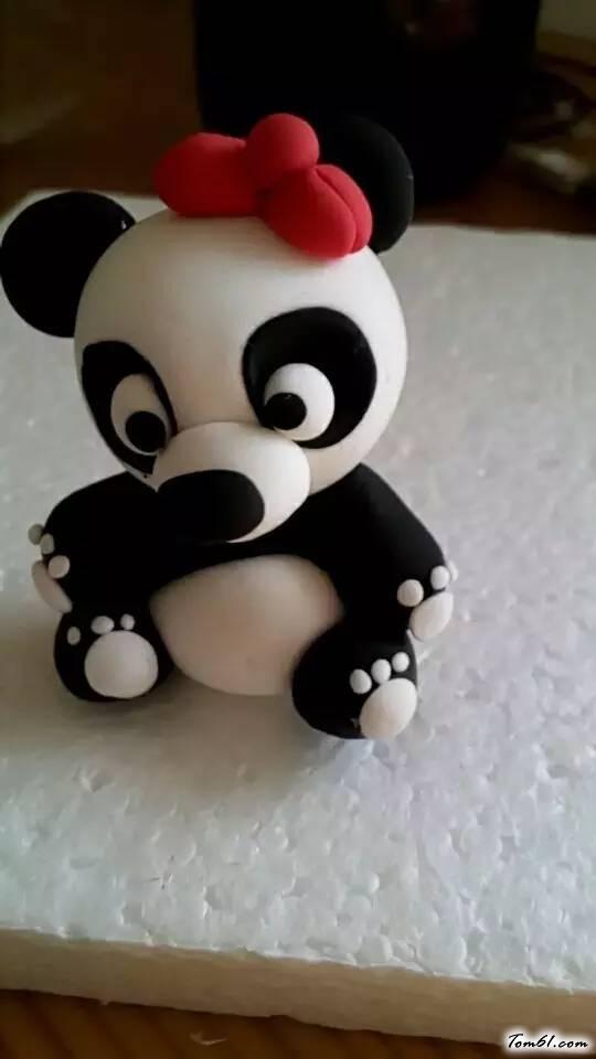 熊猫的彩泥橡皮泥制作教程图解2
