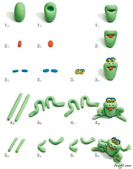 青蛙的彩泥橡皮泥制作教程图解