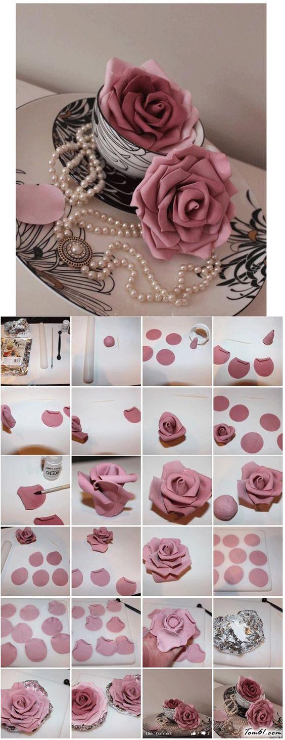 玫瑰花的彩泥橡皮泥制作教程图解6