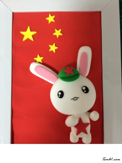 红星那年小兔的彩泥橡皮泥制作教程图解图片14