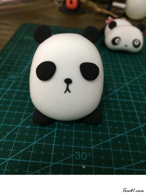 胖子版小熊猫的彩泥橡皮泥制作教程图解图片7