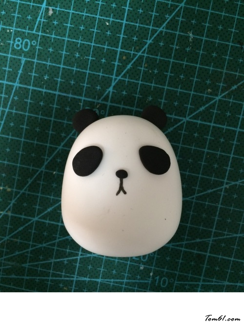 胖子版小熊猫的彩泥橡皮泥制作教程图解