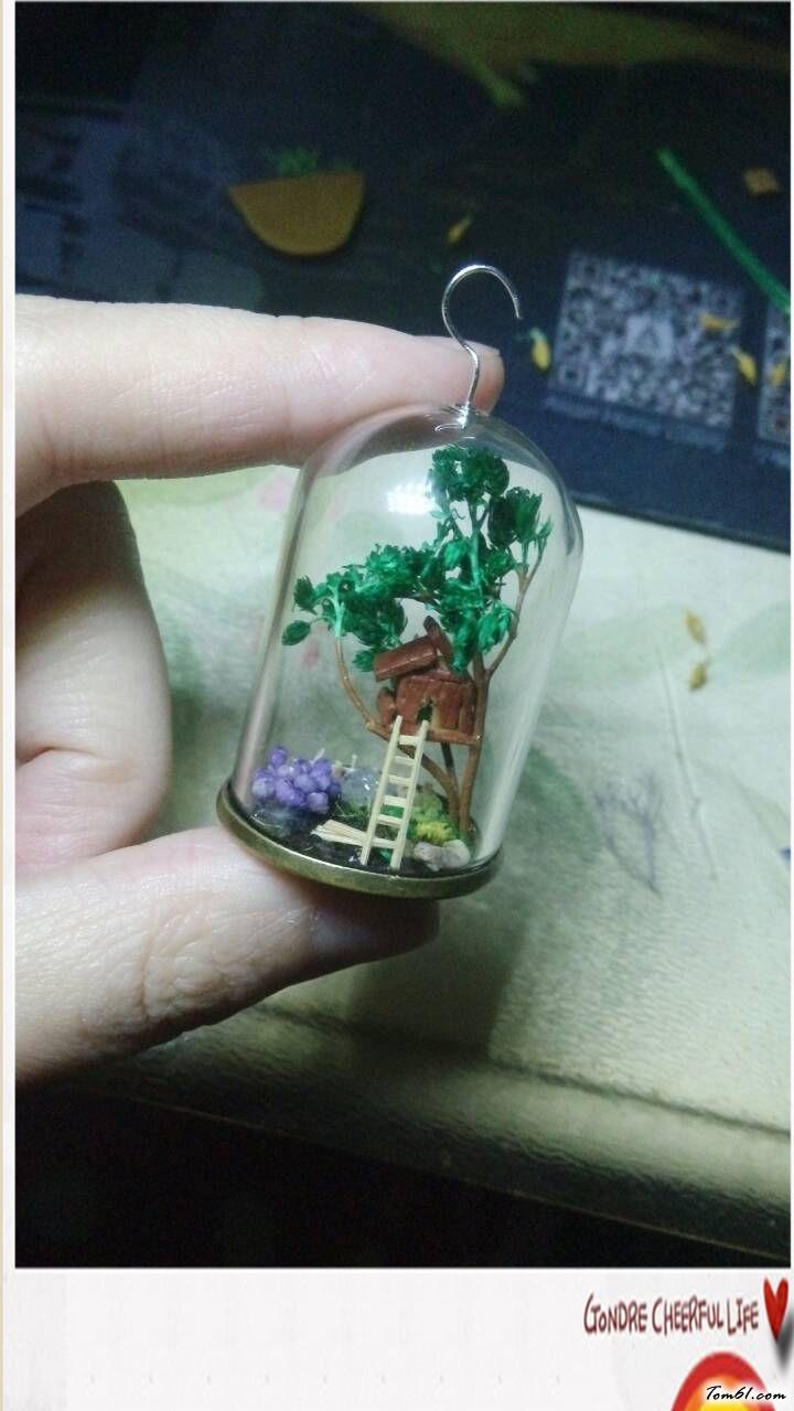 小树屋吊瓶的彩泥橡皮泥制作教程图解