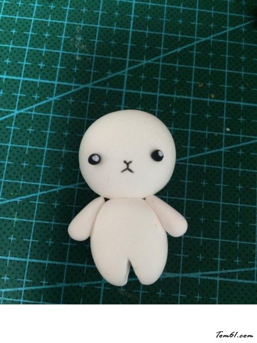 兔子和熊钥匙小挂饰的彩泥橡皮泥制作教程图解图片10