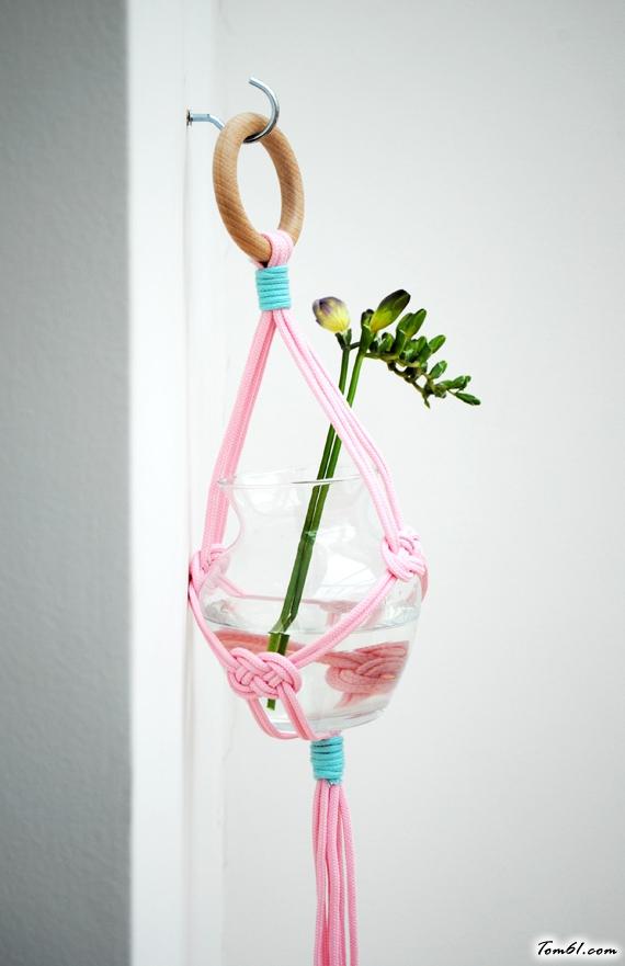 挂式花瓶座的手工制作教程图解
