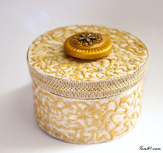 软陶首饰盒的彩泥橡皮泥制作教程图解