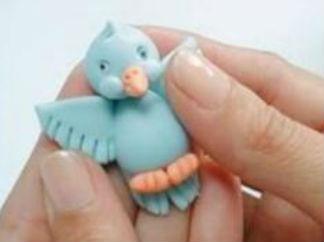 可爱小鸟玩偶的彩泥橡皮泥制作教程图解