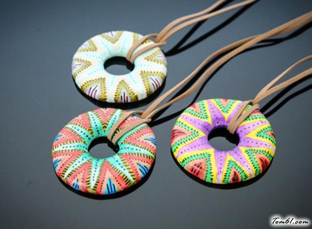 甜甜圈软陶的彩泥橡皮泥制作教程图解