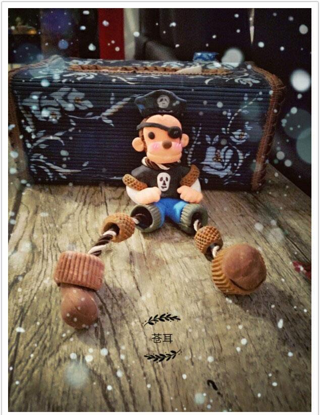 海盗小猴子的彩泥橡皮泥制作教程图解