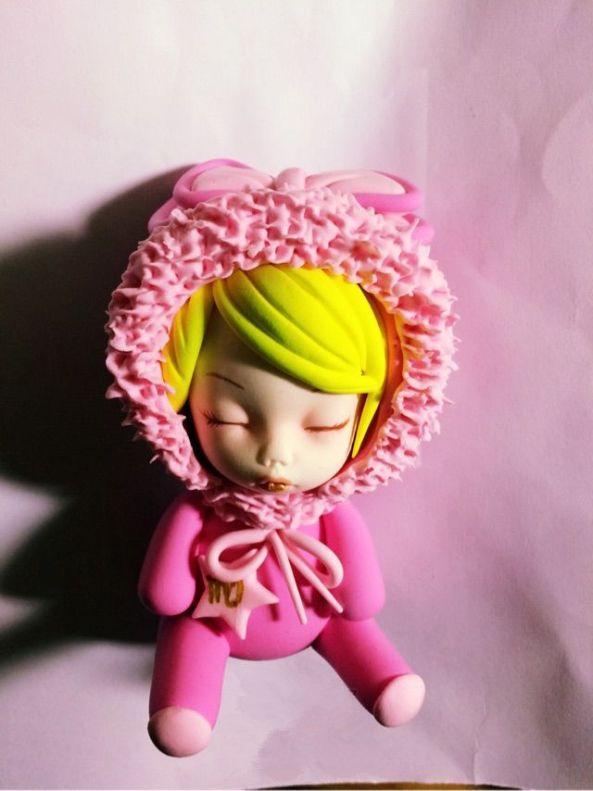 粉嫰嫰处女座宝宝的彩泥橡皮泥制作教程图