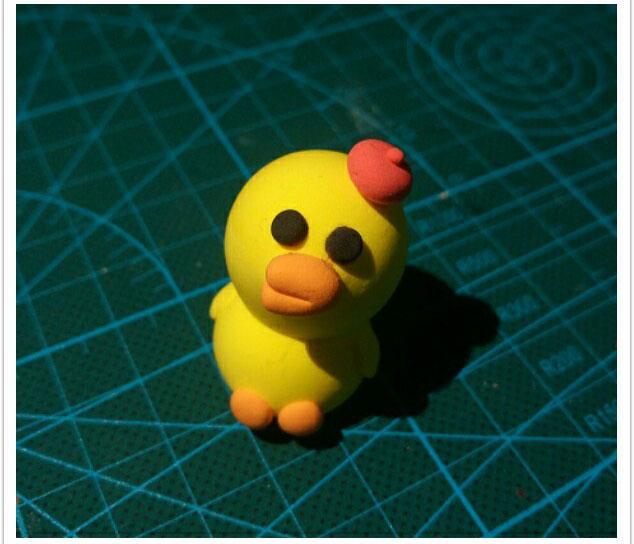 小黄鸡的彩泥橡皮泥制作教程图解3