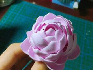淡紫色的花的彩泥橡皮泥制作教程图解