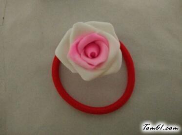 双色玫瑰花的彩泥橡皮泥制作教程图解