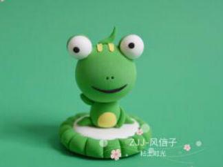 大眼睛的小青蛙的彩泥橡皮泥制作教程图解