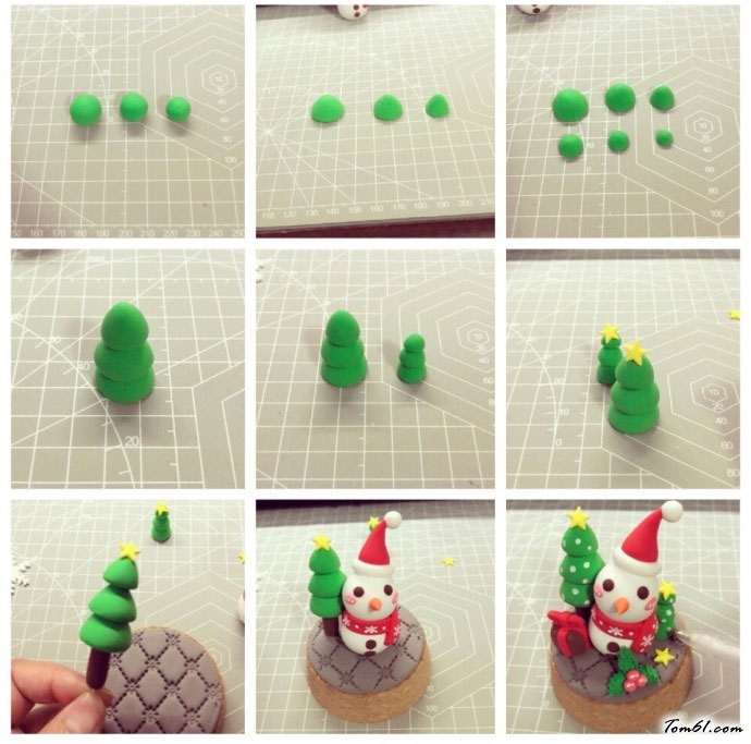 圣诞水晶球小雪人的彩泥橡皮泥制作教程图解