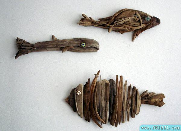用枯树枝制作创意墙面挂饰图片1图片