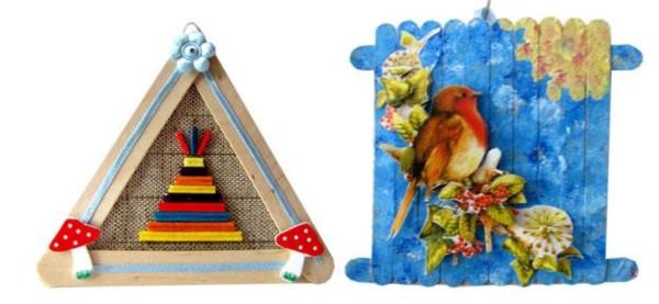 雪糕棍之创意相框diy废物利用的创意制作图解教程图片