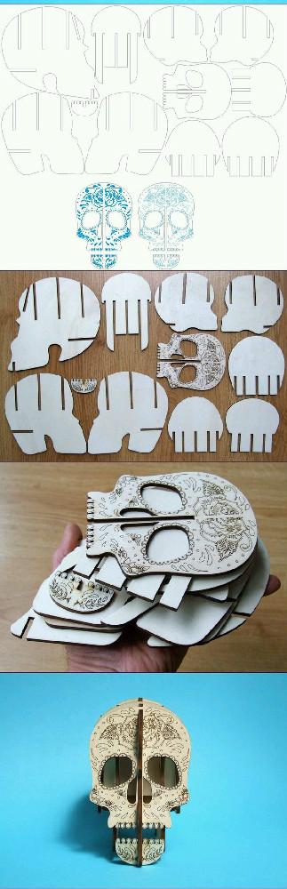 DIY笔筒之骷髅头立体笔筒图片2