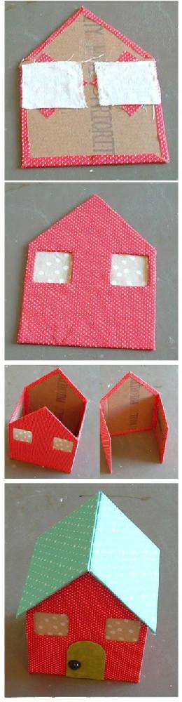 硬纸板diy之可爱的小房子图片4