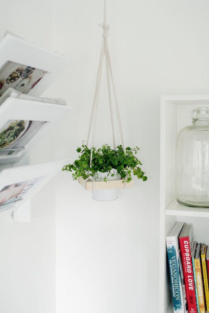 简约悬挂式花架diy废物利用的创意制作图解教程图片