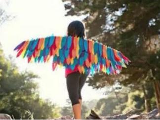 儿童玩具翅膀的废物利用的创意制作图解教