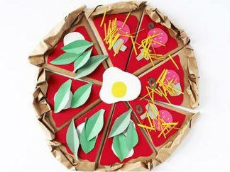 简单披萨模型废物利用的创意制作图解教程