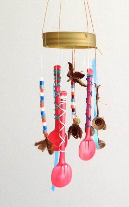 风铃的废物利用的创意制作图解教程