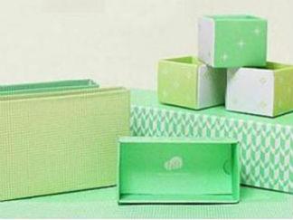 点心盒+包装盒的废物利用的创意制作图解