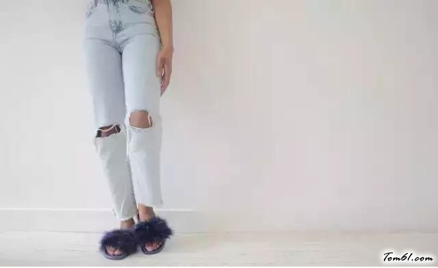 毛絨拖鞋的廢物利用的創意制作圖解教程