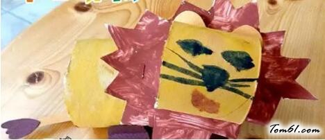 卷紙筒的廢物利用的創意制作圖解教程
